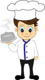 Cute Chef presenting a meal. Illustration of a Cute Chef presenting a meal royalty free illustration