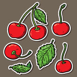 Cute cherries. Royalty Free Stock Images