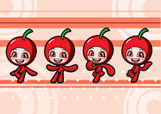Cute cherry girl Royalty Free Stock Images