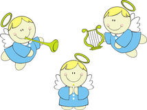 Cute cherubs set vector illustration