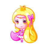 Cute chibi princess Royalty Free Stock Images