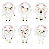 Cute Chibi Sheep Stock Images