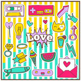 Cute Chic Fashion Summer Patch Badges Stock Image