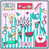Cute Chic Fashion Summer Patch Badges Stock Images