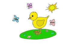 Cute chick Royalty Free Stock Image