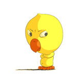 Cute chick character Royalty Free Stock Images