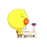 Cute chick character Royalty Free Stock Photos