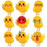 Cute Chick Emoji Expressions Stock Photo