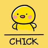 Cute chick hand-drawn style, vector illustration. Cute chick hand-drawn style,drawing,hand drawn vector illustration Stock Photo