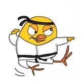 Cute chick kungfu mascot illustration white background. Cute chick kungfu mascot and white background illustration Royalty Free Stock Photos