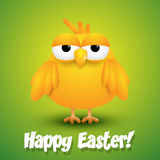 Cute chick wishing happy Easter Royalty Free Stock Photography