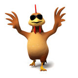 Cute chicken. 3d rendered illustration of a chicken Royalty Free Stock Images