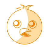 Cute chicken character icon Stock Images