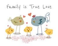 Family is True Love stock illustration