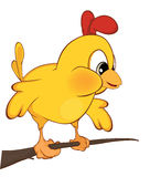 Cute chicken illustration. Cartoon Stock Photo