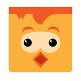 Cute chicken for kids Stock Image
