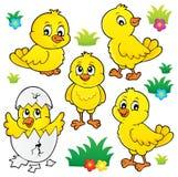 Cute chickens topic set 1. Eps10 vector illustration stock illustration