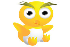 Cute chicks cartoon Stock Image
