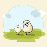 Cute chicks for Happy Easter celebration. Happy Easter celebration with cute chicks on nature background Royalty Free Stock Photography