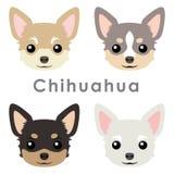 Cute_chihuahua_dog_heads vektor abbildung