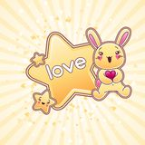 Cute child background with kawaii doodles Stock Images