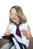 Cute child with business look Stock Photography