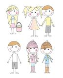 Cute child cartoons Royalty Free Stock Photo