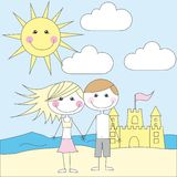 Cute child cartoons Royalty Free Stock Images