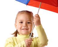 Cute child with colorful umbrella Stock Photography