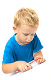 Cute child drawing Stock Image