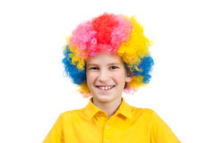Cute child dressed up in a clown costume Royalty Free Stock Photography
