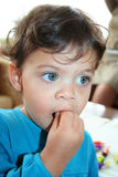 Cute child eating Royalty Free Stock Photo