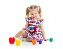 Cute child girl playing Stock Photography