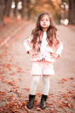 Cute child girl posing in autumn park Royalty Free Stock Images