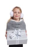 Cute child giving a present Stock Photo