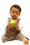 Cute Child with guava Royalty Free Stock Images