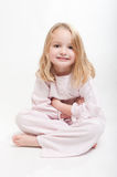 Cute child in her pajamas Royalty Free Stock Image