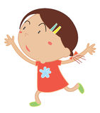 Cute child illustration Stock Images