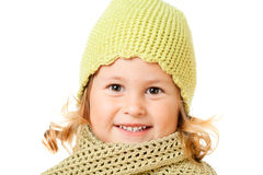Cute child in knitted hat Royalty Free Stock Photography