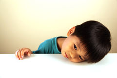 Cute child looking sad Stock Images