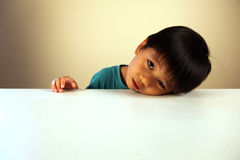 Cute child looking sad Stock Photos