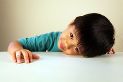 Cute child looking sad Royalty Free Stock Photo