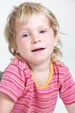 Cute child over white Royalty Free Stock Image