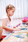 Cute child playing Stock Photo
