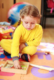 Cute child playing Stock Photography