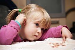 Cute child portrait stock photos