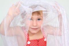 Cute child portrait over white Stock Photo