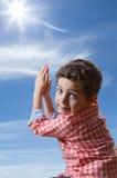 Cute child praying Stock Image