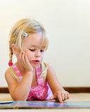 Cute child reading Stock Photography