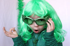 The cute child on Saint-Patricks day Royalty Free Stock Photo